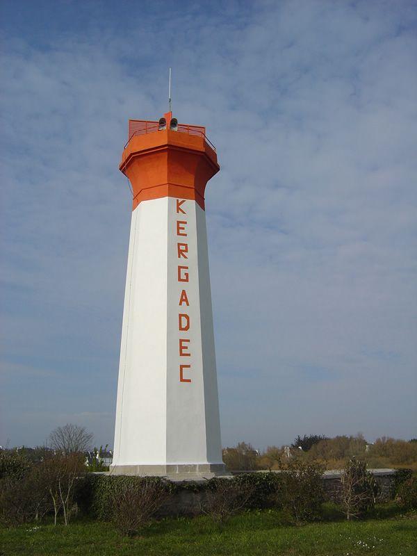 Lighthouses of Iroise. Phare de Kergaradec, Audierne. Finistere