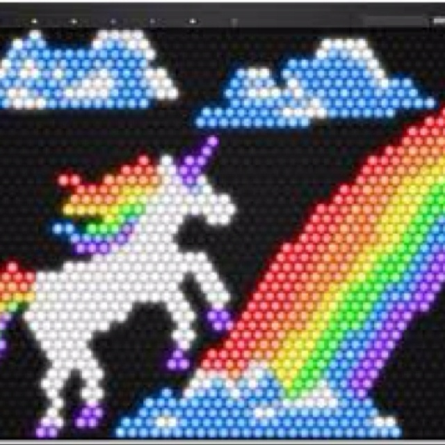 Lite Brite - rainbows & unicorns