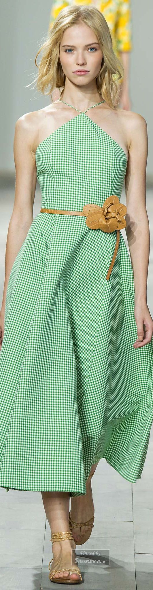 Michael Kors.Spring 2015. Gingham is in for next Spring