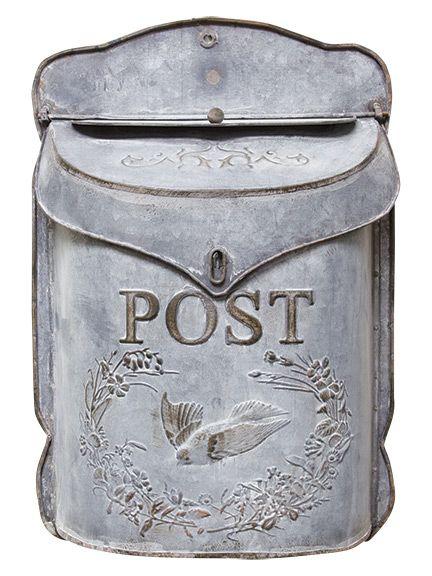 Galvanized Metal Mailbox for country & farmhouse decor!