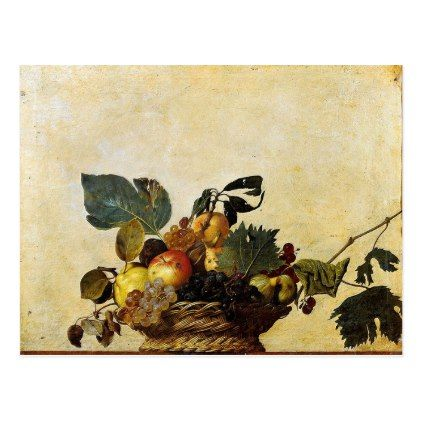 Caravaggio - Basket of Fruit - Classic Artwork Postcard - postcard post card postcards unique diy cyo customize personalize