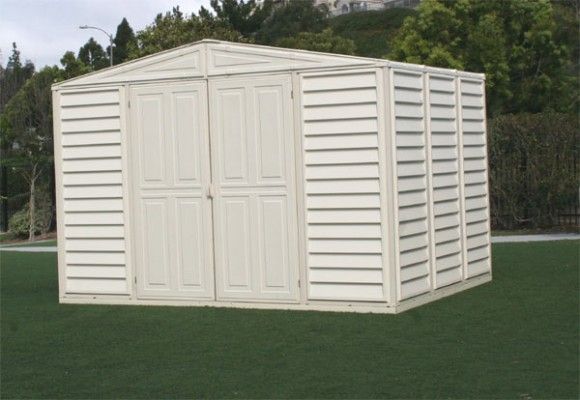 Duramax Woodbridge 10.5x8 Vinyl Storage Shed (w/ Foundation Kit) #StorageShedsOutlet