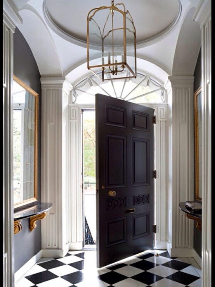 the front door281 best FOYER images on Pinterest  Homes Console tables and