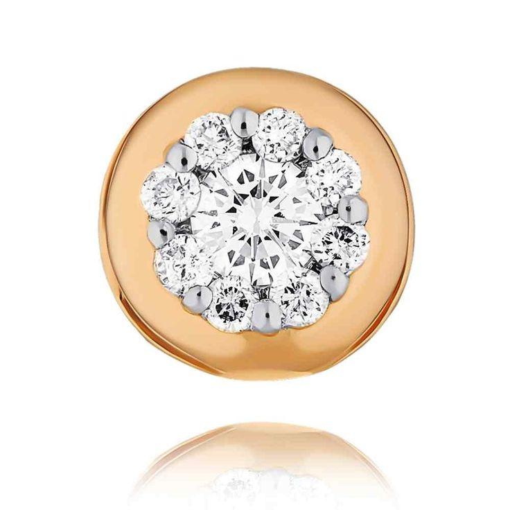 Подвеска из золота со вставкой из бриллианта, вес изделия - 0.46 грамм, артикул 3447762/01-А50Д-41 в официальном интернет-магазине Adamas.ru