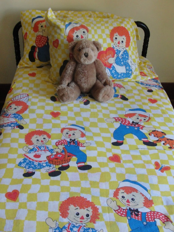 Vintage Raggedy Ann and Andy 5 Piece Twin by WhileSJsSleeping, $35.00