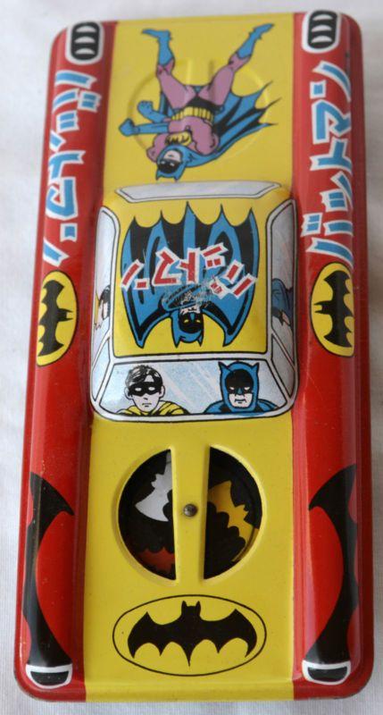 Rare 1960's Batman Batmobile Tin Litho Friction Car Ichimora Japan