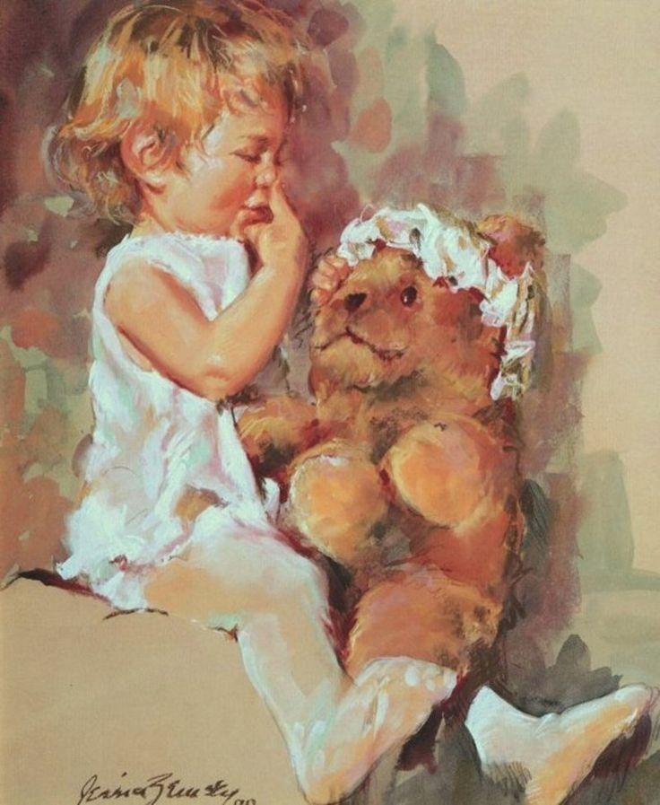 Jessica Zemsky (b.1923) — Teddy Nose  (800×975)