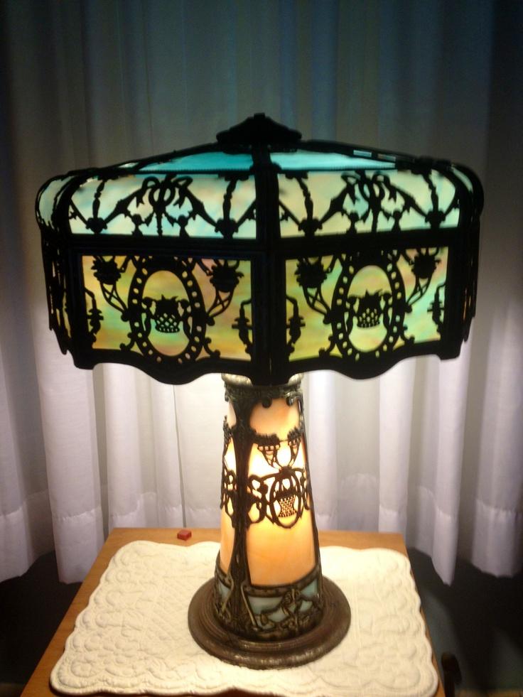 246 best Antique slag glass lamps images on Pinterest | Glass ...