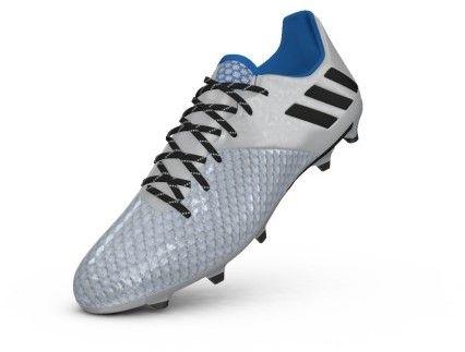 adidas S79629: Messi 16.2 FG Silver/Black Mervury Pack Soccer Sneaker for MEN (7.5 D(M) US, Silver Metallic/Black/Shock Blue Silver)