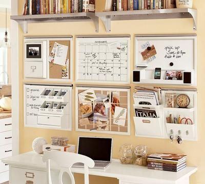 Se trata de dedicar una pared a la organización de la familia, los horarios, los menús...