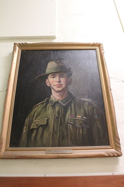 May Griggs portrait of NZ-born Lawrence Weathers VC, Adelaide undertaker. Died France 1918. Source: Community History SA Via: @communityHistSA