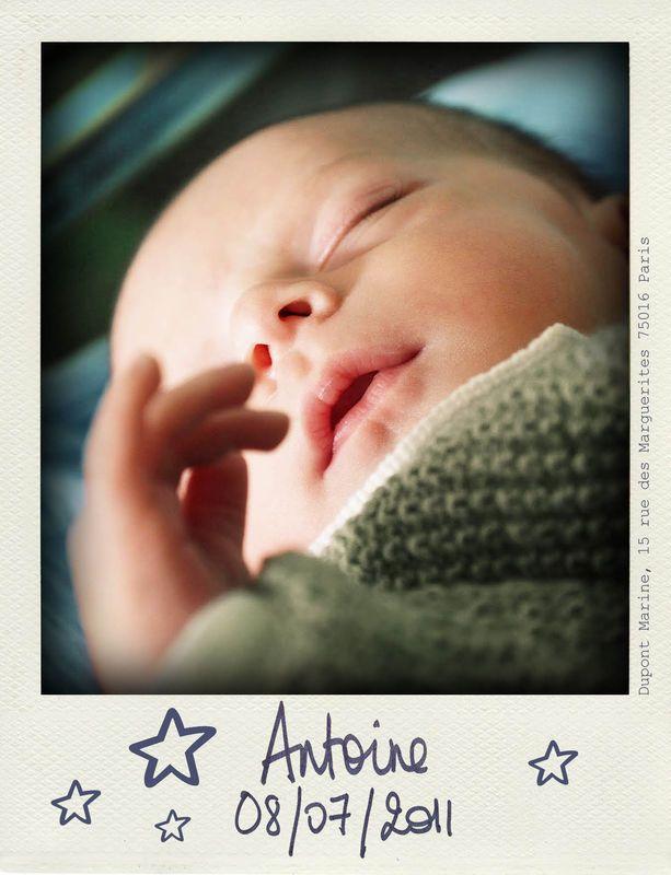 Graphisme : Faire part de naissance