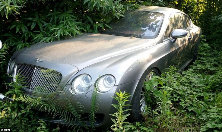 Where luxury motors go to die: One of the Bentleys currently parked in the car park in Che...