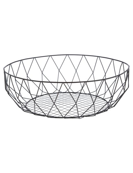 This wire basket has a minimalist feel which will add a sophisticated touch to any home.