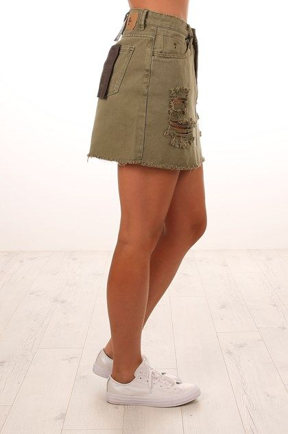Patti Skirt Army Green