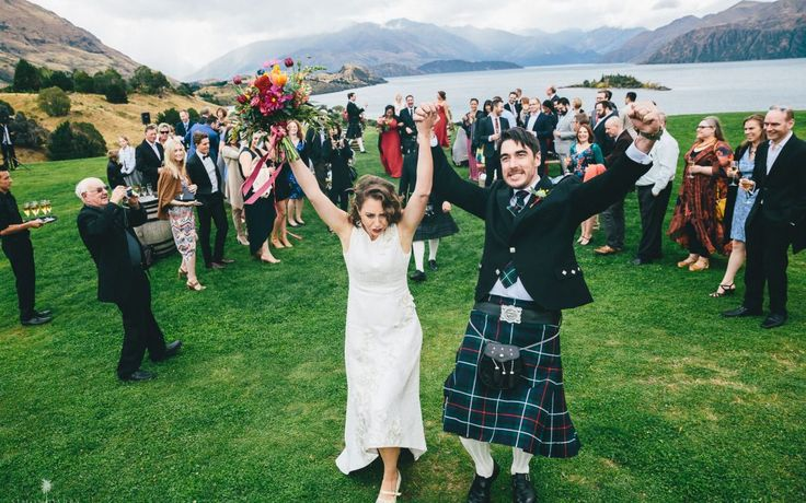 Queenstown Celebrant - Wanaka wedding at Rippon Winery on April Fools Day!