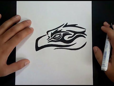 Como dibujar un lobo tribal paso a paso 2 | How to draw a tribal wolf 2 - YouTube