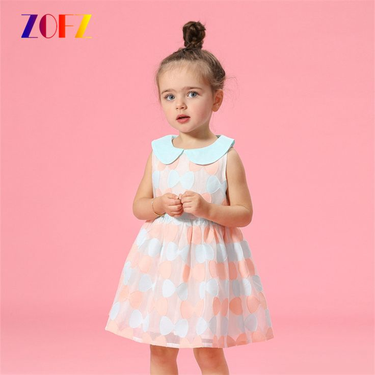 ZOFZ New Baby Girl Dress Cotton Sleeveless Printing Bow Baby Rompers for Kids Honey Princess Infant Clothes Baby Girls Jumpsuit