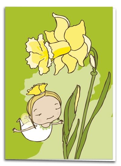 Narcissus - illustration by Terese Bast  #narcissus #sweet #elf #teresebast #spring