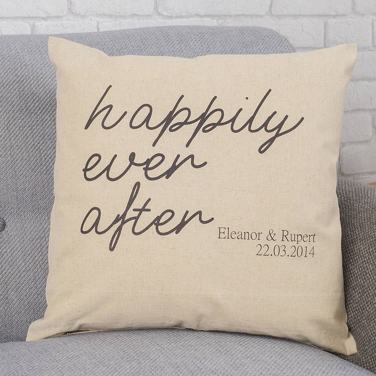 personalised engagement gift cushion by tillyanna | notonthehighstreet.com