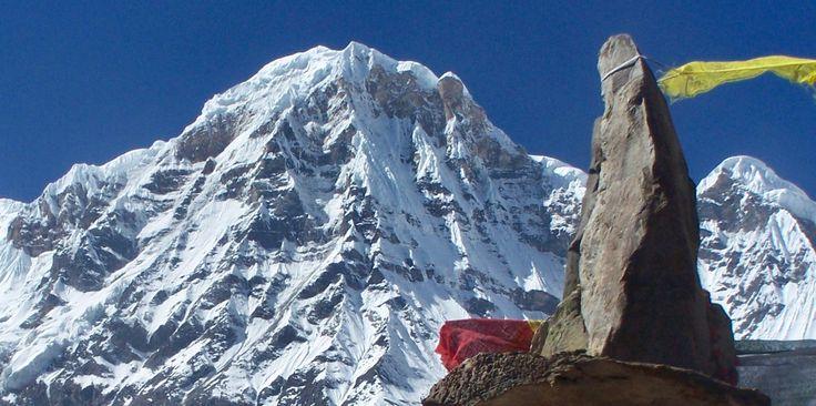 Annapurna in the Nepal Himalayas, taken from Annapurna Base Camp on the Annapurna Sanctuary Trek | Nepal | Pinterest | Nepal, Trek and Camping