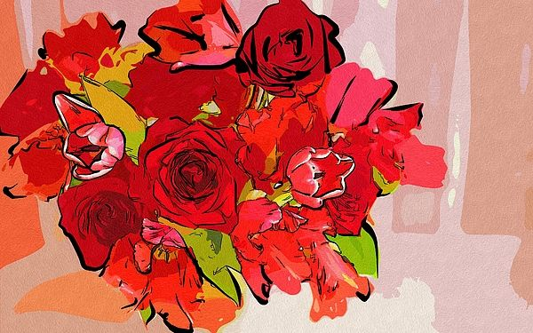 Flowers Art by Michael Vicin #flowers #art #poster #gifts