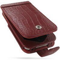 PDair Red Crocodile Pattern Leather Case for Apple iPhone 4 & 4S - Flip Type (Snap Button)  #Apple #Wireless