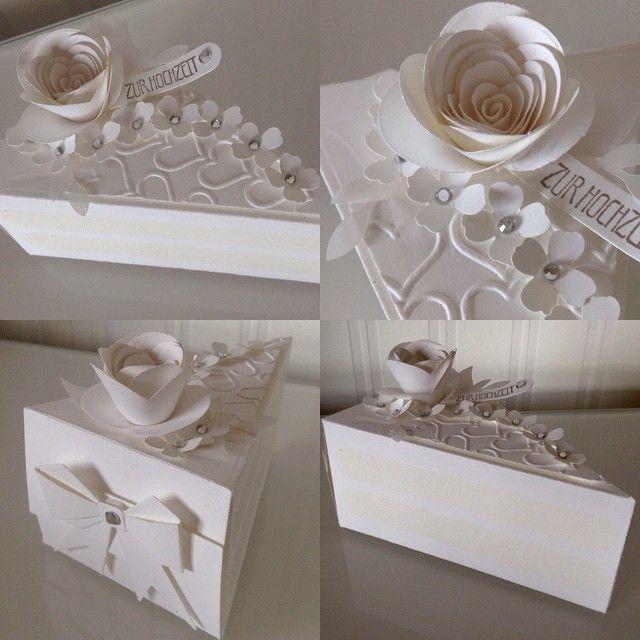 Wedding cake slice boxes.