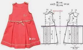 Resultado de imagen para ropa para niñas moldes