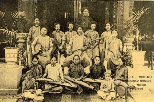 Exposition coloniale marseille 1906 orchestre conchinchinois postkarten alb - Salon vintage marseille ...