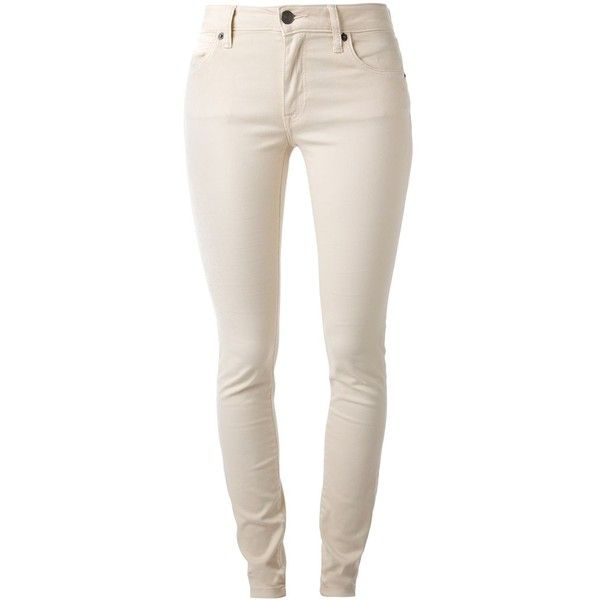 Burberry Brit Skinny Jeans ($140) ❤ liked on Polyvore featuring jeans, pants, bottoms, calças, burberry, denim skinny jeans, pink jeans, skinny leg jeans and burberry jeans