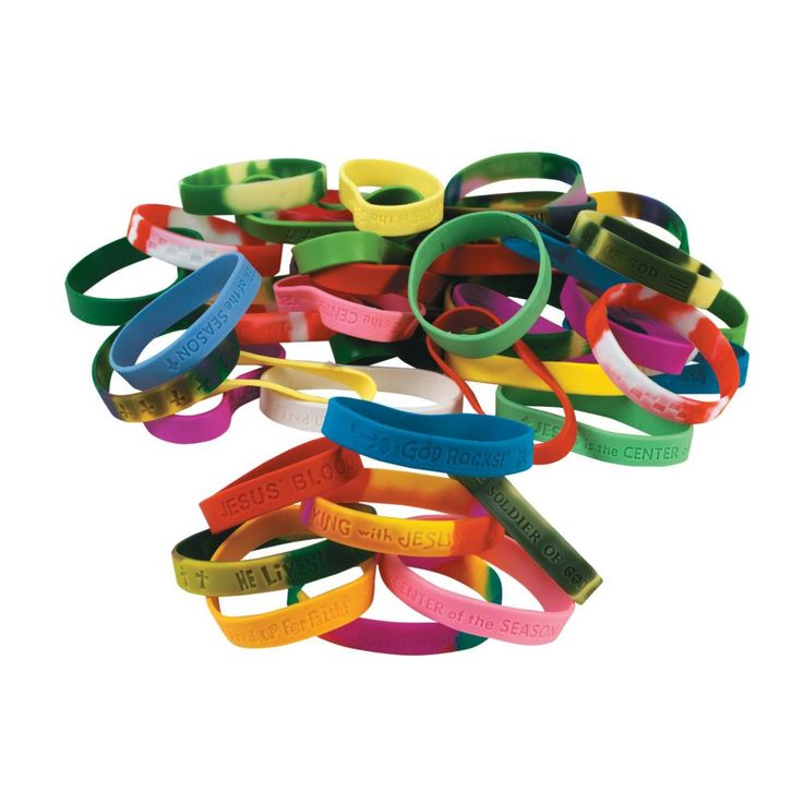 Religious Sayings Rubber Bracelets Mega Assortment