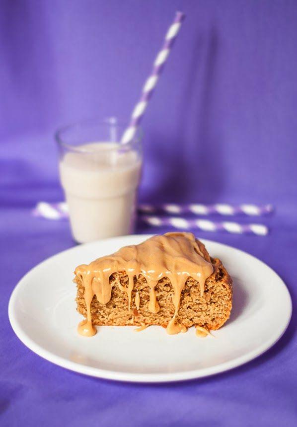 Vegan peanut butter cake  Wegańskie ciasto orzechowe z kremem