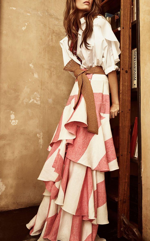 Bandelier Cotton Poplin Bodysuit by Johanna Ortiz