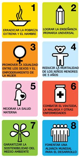 reducir la pobreza extrema hasta frenar la propagación del SIDA y garantizar el acceso a una educación primaria, con la vista puesta en 2015, sigue un modelo acordado por todos los países del mundo y todas las instituciones de desarrollo