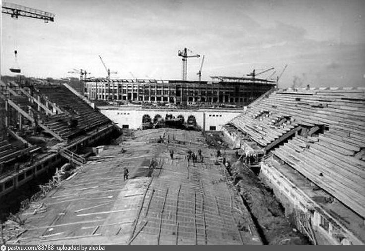 Фотография - Лужники. Строительство бассейна и БСА - Фотографии старой Москвы