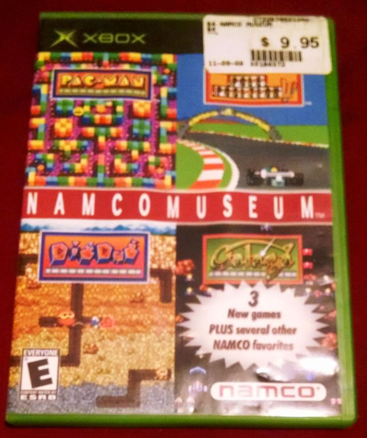 Namco Museum (Microsoft Xbox, 2002) Video Game UPC: 722674021340
