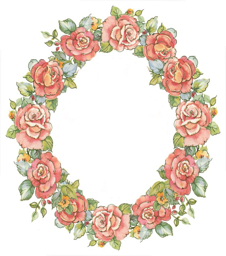 digital vintage rose frame; free download | Art - wreaths ...