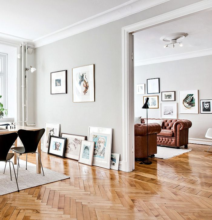 Would Prefer Normal Wood Floors But Luv The Grey Walls N White Skirting