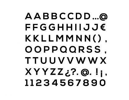 Letras personalizadas en vinilo adhesivo con todas las letras del abecedario 04754