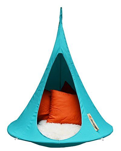 Cacoon Bonsai hanging Chair tries Turquoise