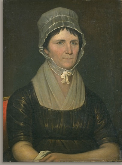 Jeremiah Paul   Born Woodbury, N.J., about 1775.   Died St. Louis, Mo., July 13, 1820.    Rachel West Clarkson (Mrs. John Clarkson), about 1795  Oil on canvas  24 5/16 x 18 3/16 in. (61.8 x 46.2 cm)  Museum purchase, 1920.46