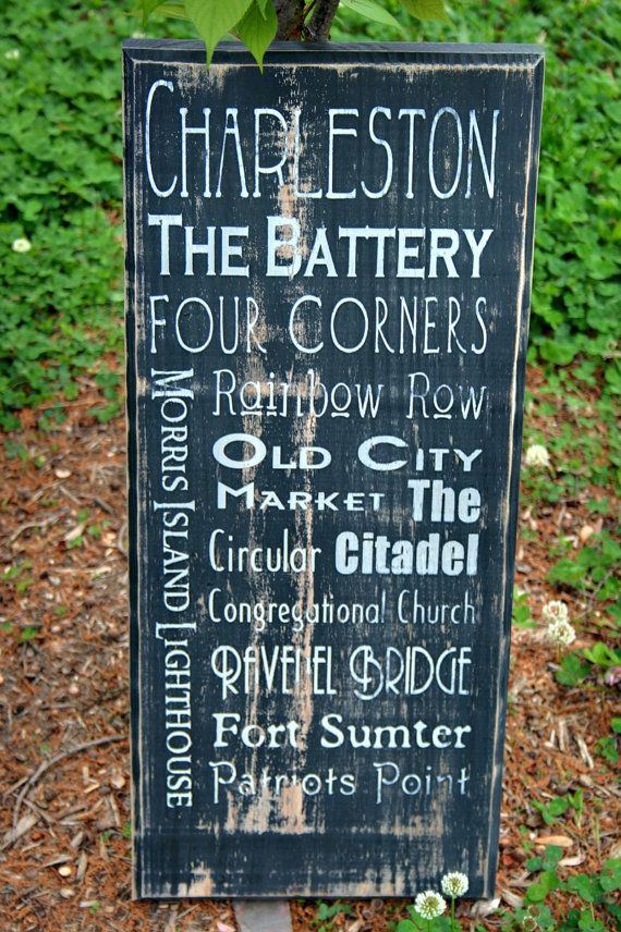 Charleston, South Carolina Typographical Art- lived there while in the Navy and enjoyed everyone of these places!
