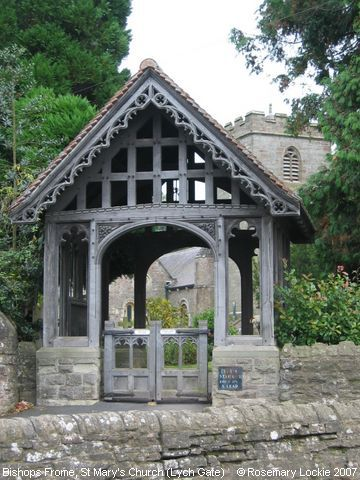 Recent Photograph of St Mary's Church (Lych Gate) (Bishops Frome)