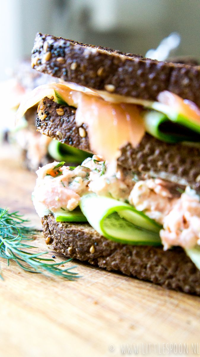 Club sandwich met zalm - Little Spoon