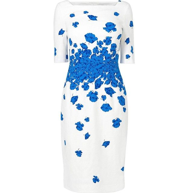 Lasa 3/4 Sleeve Floral Occasion Dress Blue