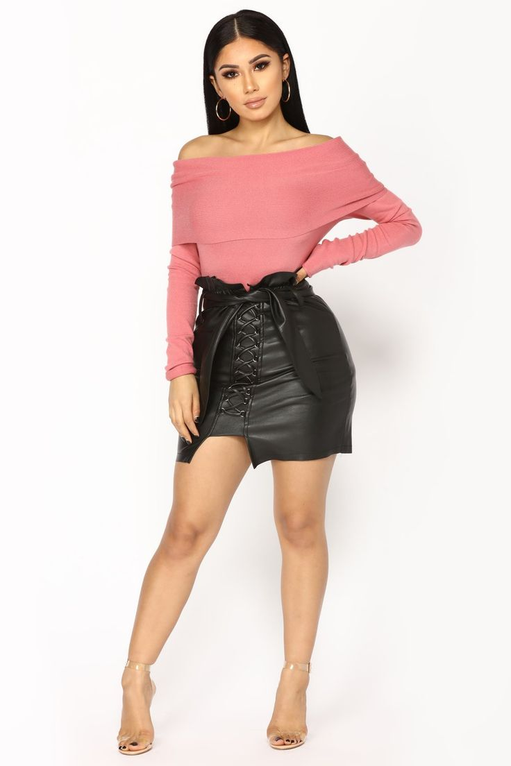 Dusting You Off The Shoulder Sweater - Mauve