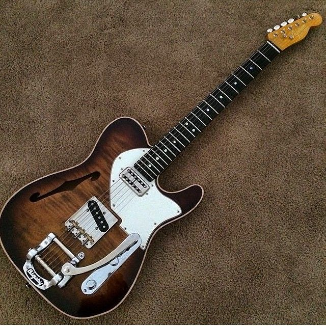 Fender Telecaster - The fabled combination of thinline and cabronita.  ...Never seen a thinline/custom combo.