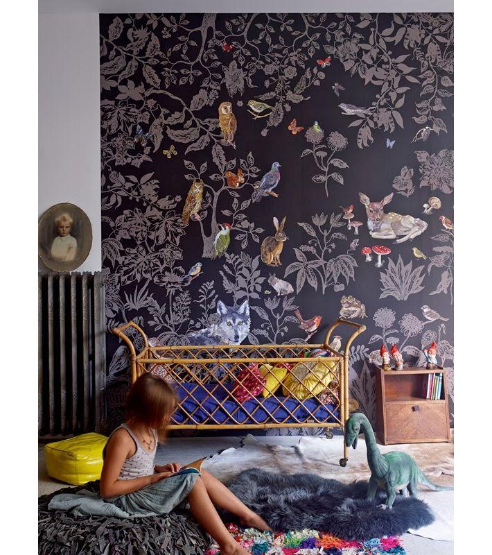 les 25 meilleures id es de la cat gorie papier peint de chambre de fille sur pinterest motif. Black Bedroom Furniture Sets. Home Design Ideas