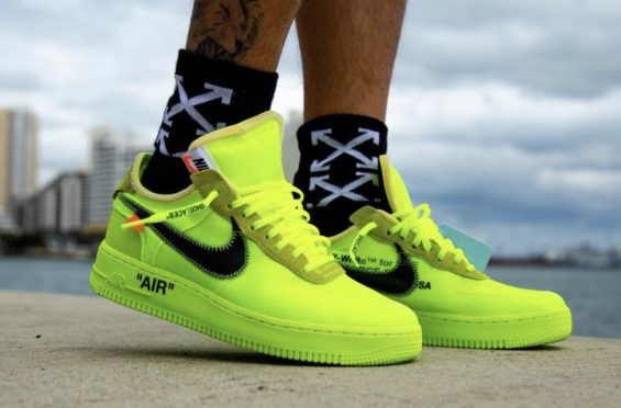 nike air force 1 yellow fluo